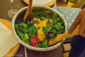 Kale salad | thefoodiemiles.com