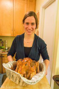 Anjuli making Thanksgiving dinner   thefoodiemiles.com