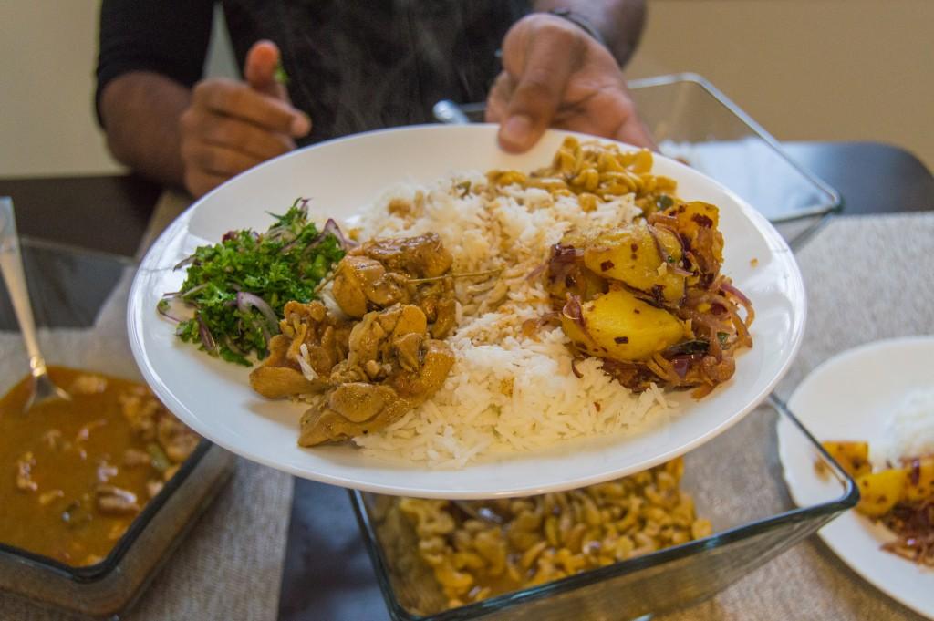 Sri Lankan rice and curry recipe