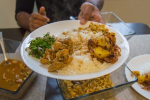 Traditional Sri Lankan lunch table   thefoodiemiles.com