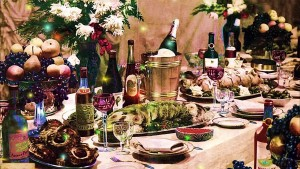 Russian new year table