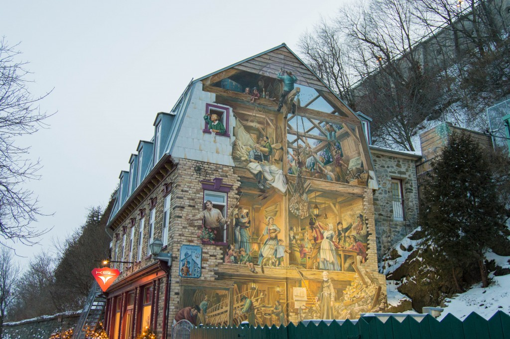 Mural quebec city
