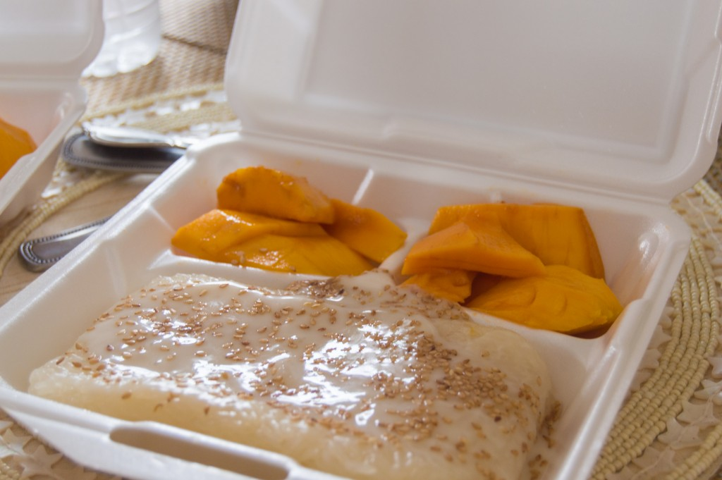 Mango sticky rice at Bangkok House, Myrtle Beach