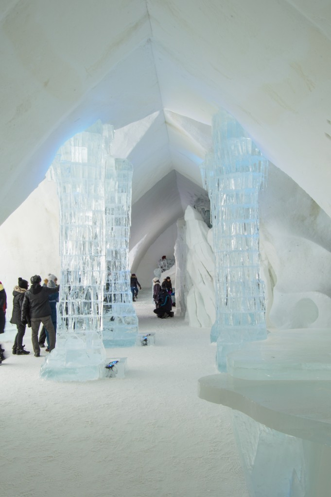 Inside the Ice Hotel Quebec