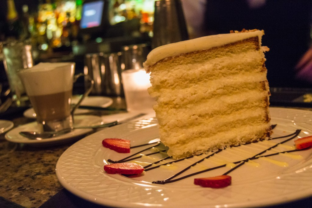 The Ultimate coconut cake in Peninsula Grill
