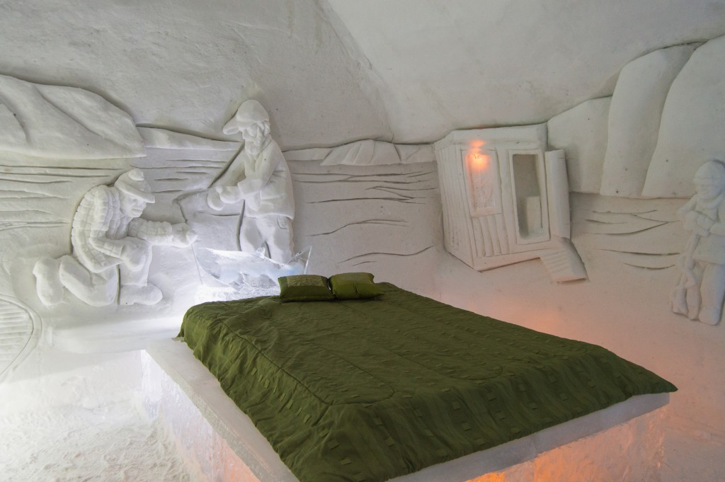 Suite in ice hotel