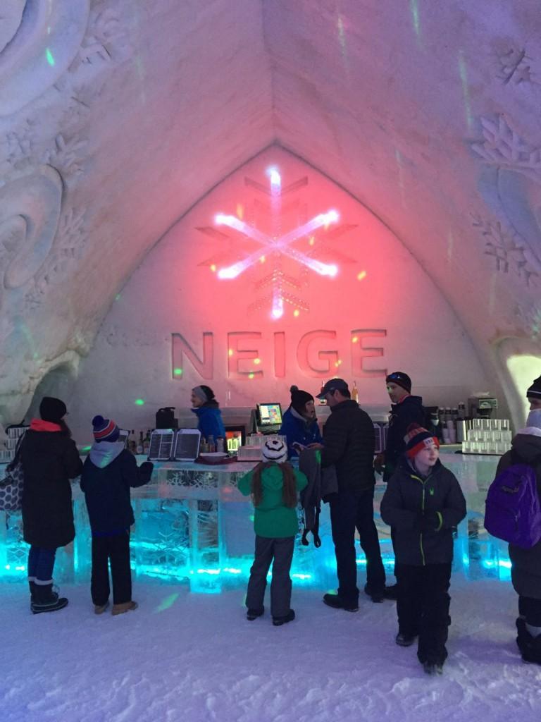 Neige ice bar in Hotel de Glace