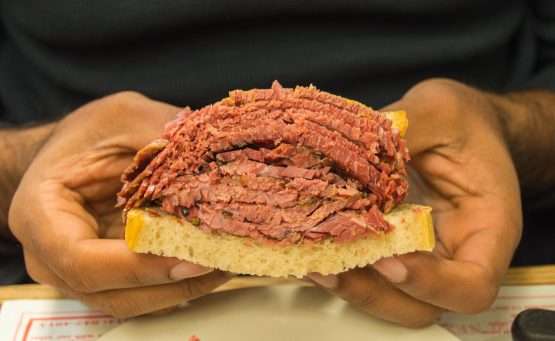 Smoked meat at Schwartz's