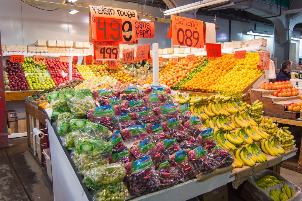 Fruits and veggies at Jean Talon Market