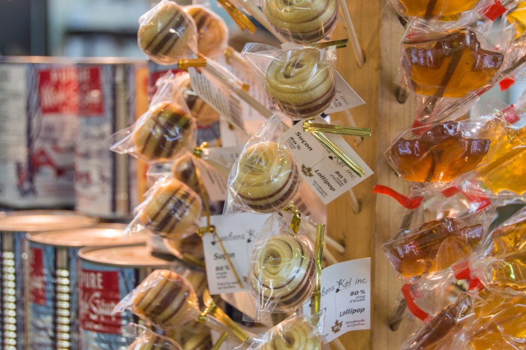 Maple lollipops at Jean Talon Market