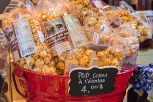 Maple popcorn at Jean Talon Market Montreal