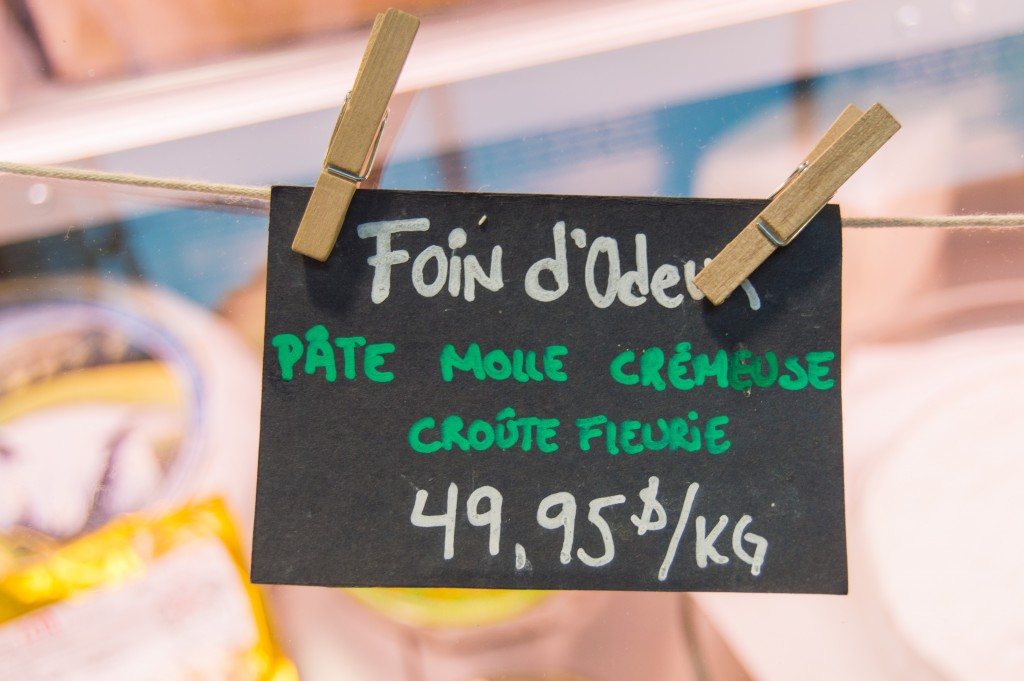 Local cheese shop at Jean Talon Market