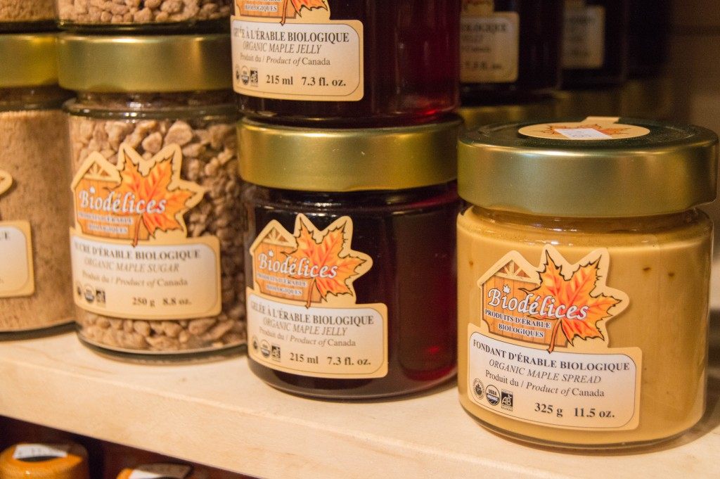 Maple spread at Jean Talon Market