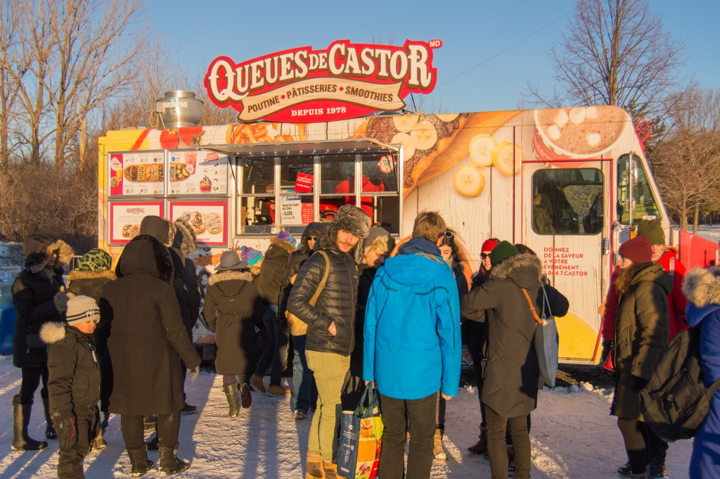Beaver tails food truck in Montreal