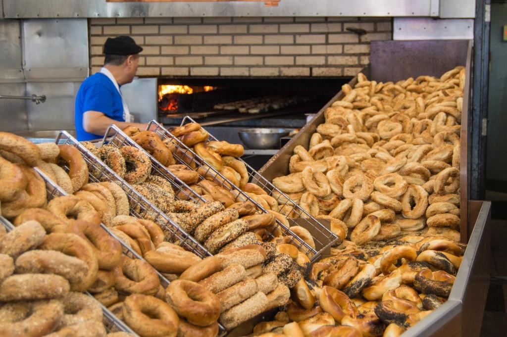 St-Viateur bagel shop in Canada