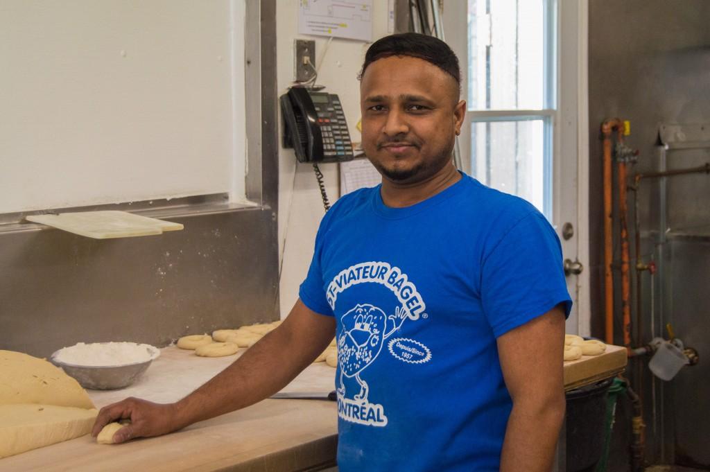 Sri lankan baker at St-Viateur Bagel shop