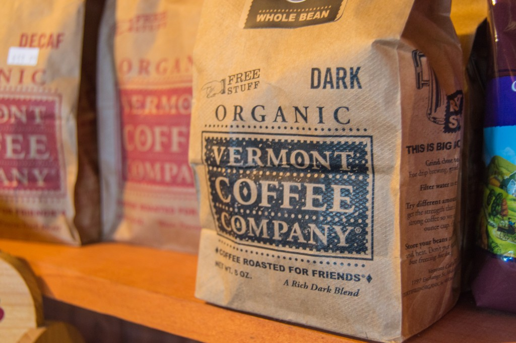 Local coffee at Vermont deli