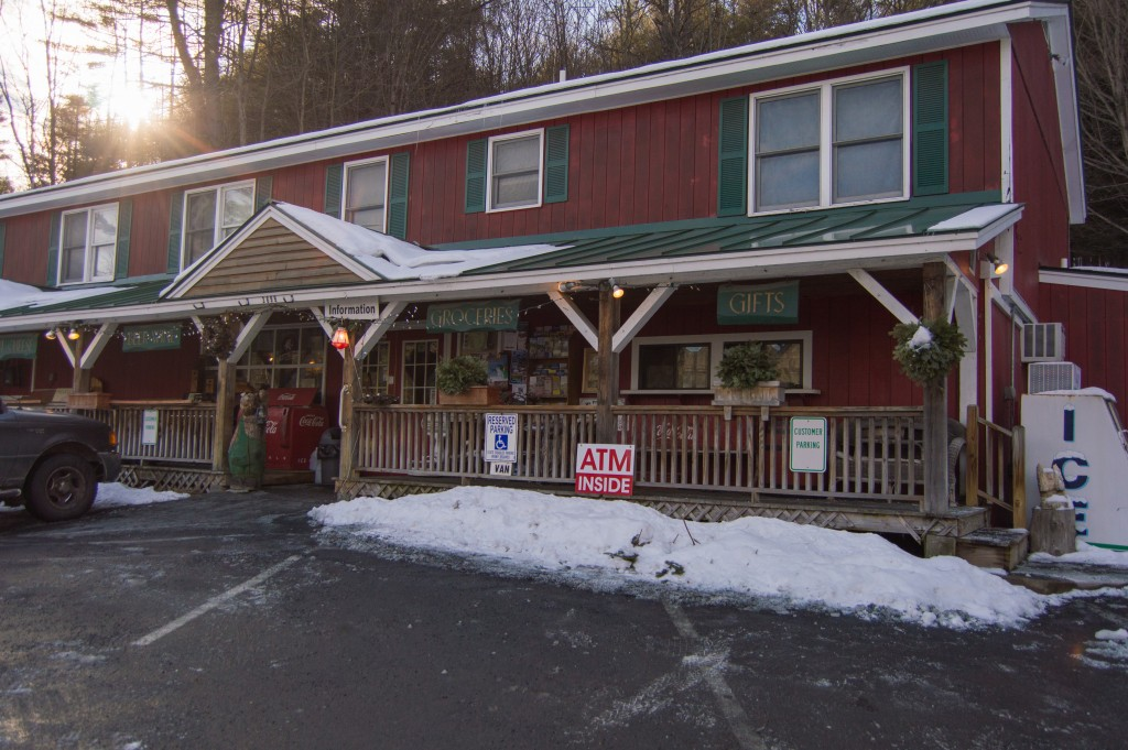 Outside Deli and BBQ on route 4 in Vermont