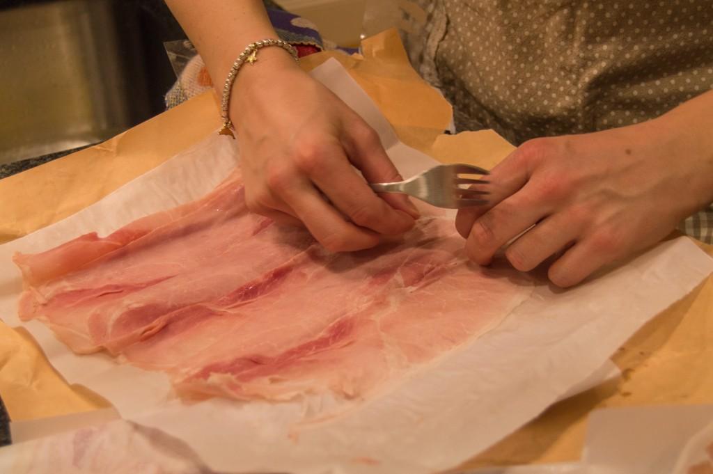 Prosciutto cotto sliced