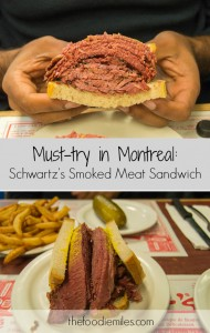 Must-try in Montreal smoked meat sandwich