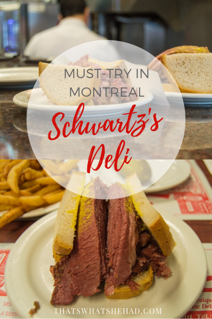 Schwartz's Deli — the one restaurant you shouldn't miss when you are exploring Montreal! Click on pin to learn why! #Montreal #Canada #Montrealfood