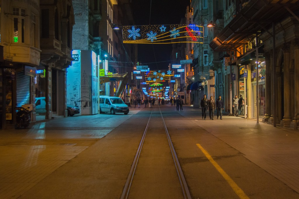 Istiklal street at night