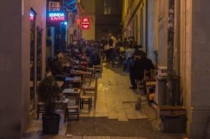 Istiklal street Istanbul at night