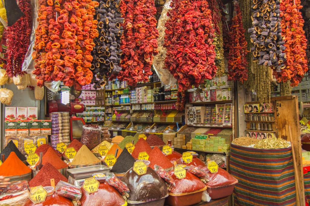 Tomato paste at the spice market Istanbul