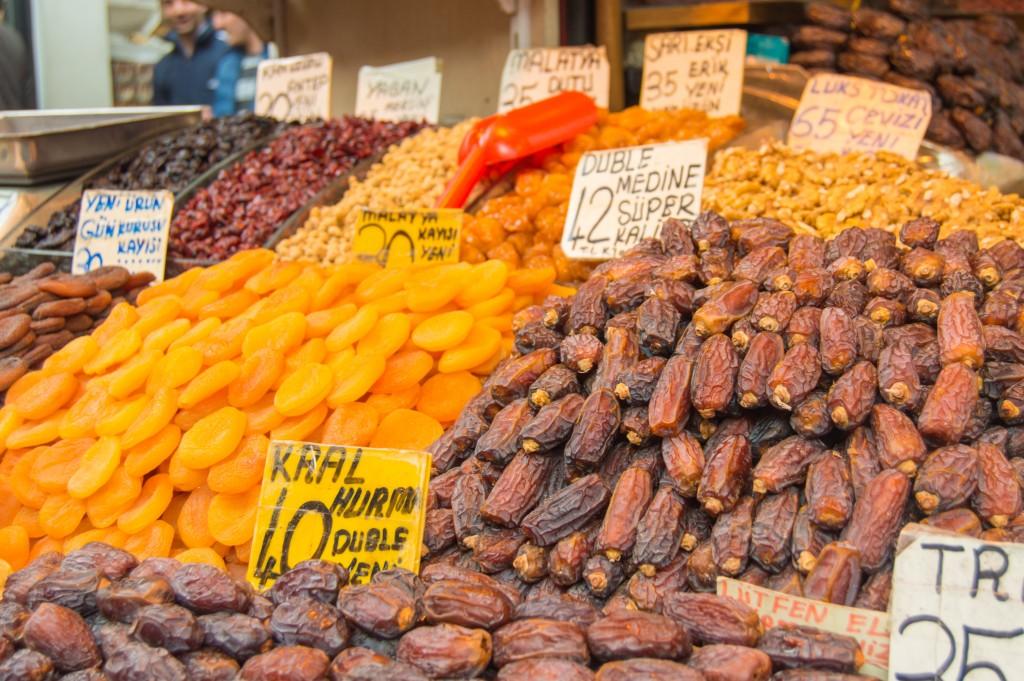 Spice market in Istanbul Turkey