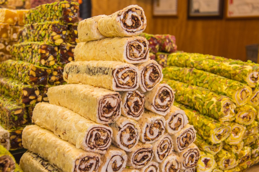 Turkish delight at the spice market Istanbul