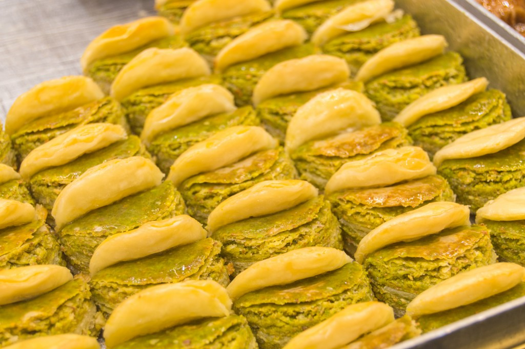 Baklava at the spice market Istanbul
