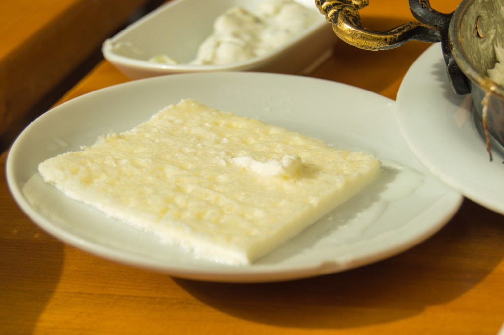 Kaymak at Turkish breakfast