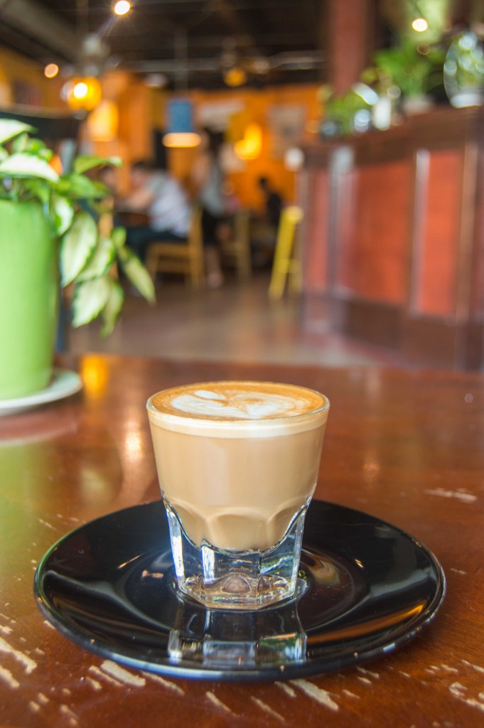 Cortado at Epoch coffee