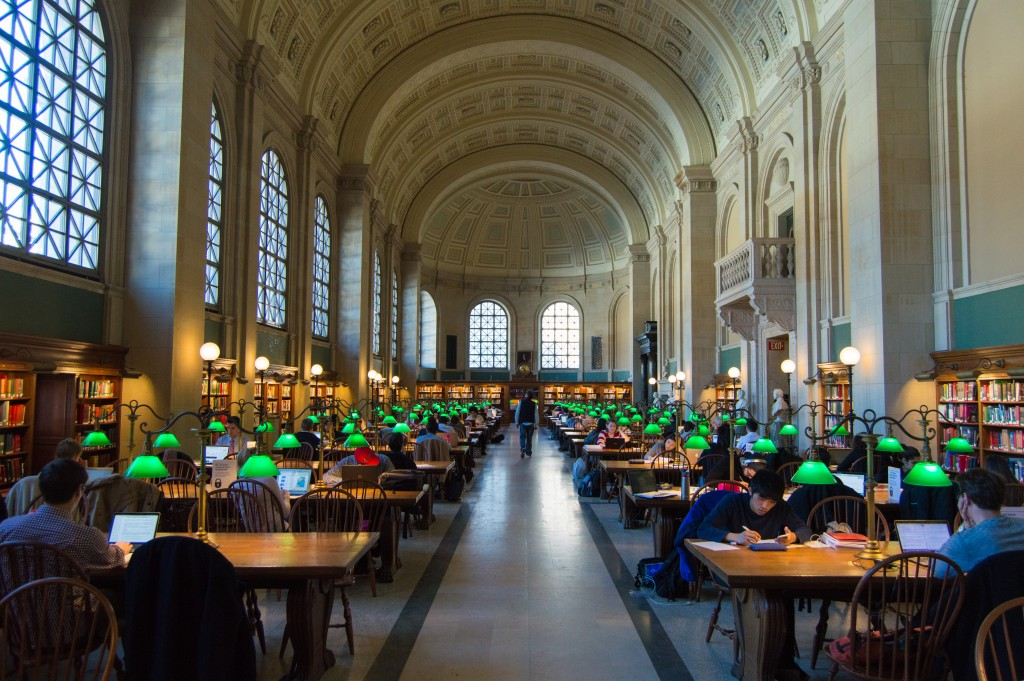 Bates Hall Boston Public Library