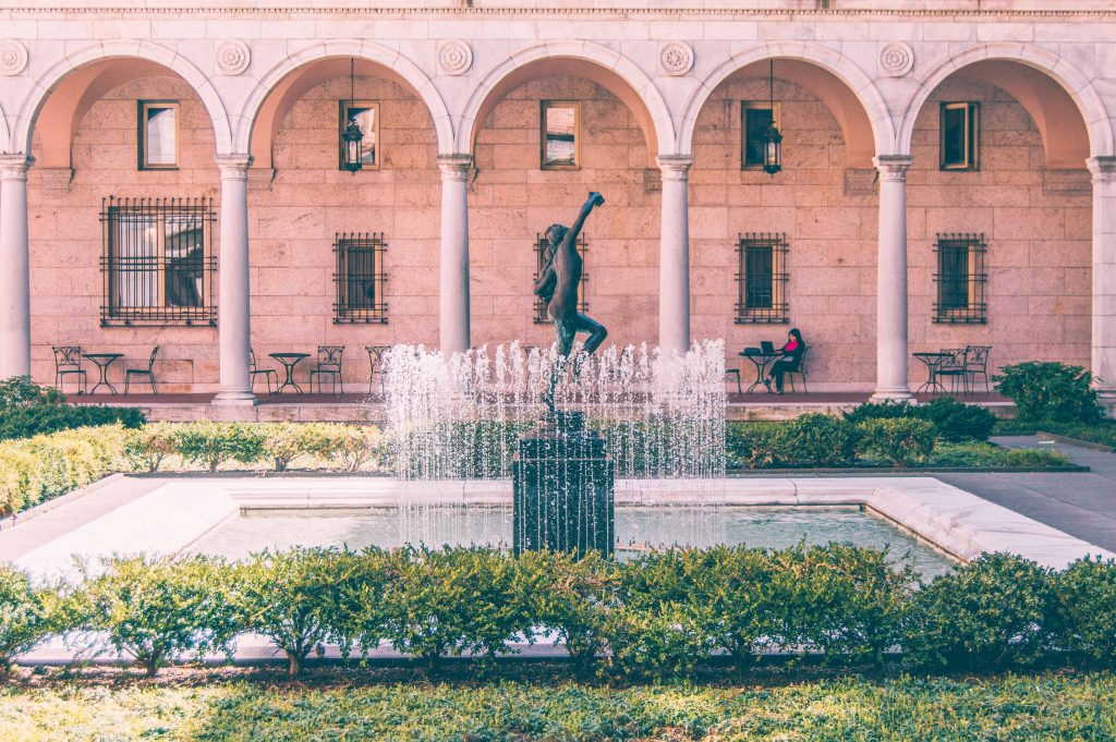 The open courtyard at BPL