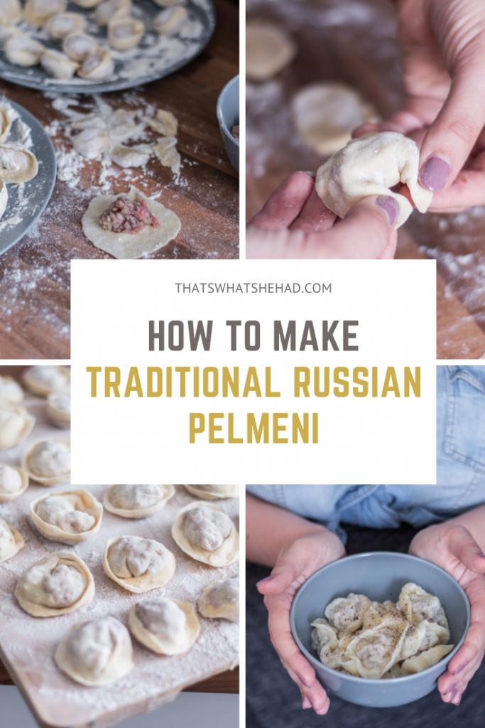Traditional Russian Pelmeni recipe with step-by-step photos and instructions! #RussianFood #RussiaTravel #Russian #RussianCuisine #Pelmeni #Dumplings #RussianDumplings
