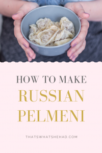 Learn to make Russian Pelmeni from a Russian: this comprehensive guide will teach you how to make the dough, how to shape pelmeni and how to serve them! #RussianFood #RussiaTravel #Russian #RussianCuisine #Pelmeni #Dumplings #RussianDumplings
