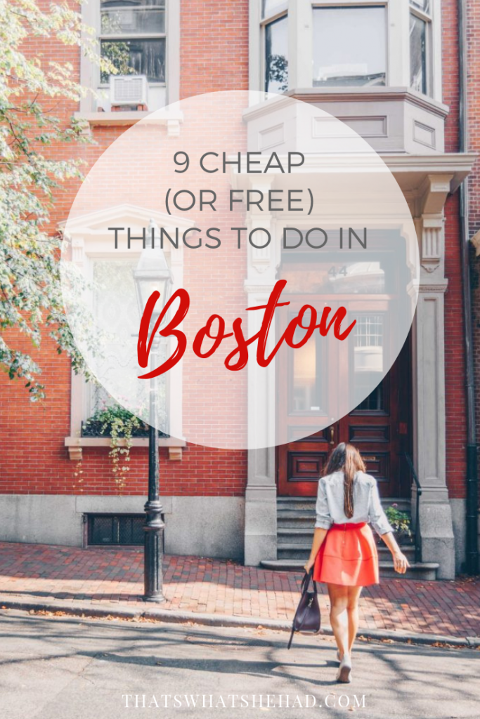 9 Cheap (or completely free) things to do in Boston! Click on pin to read now or save for later! #Boston #Massachusetts