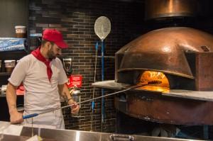Chef Fabio making pizza Margherita at MAST
