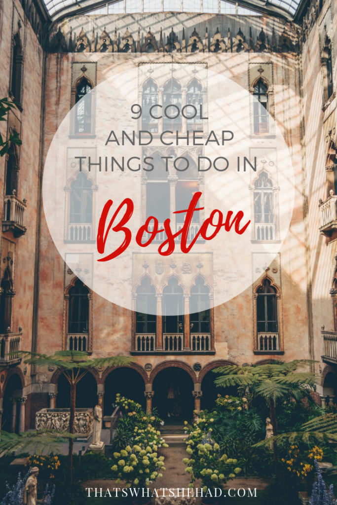 9 Cool and Cheap things to do in Boston if you are traveling on a budget! Click on pin to check it out! #Boston #Massachusetts