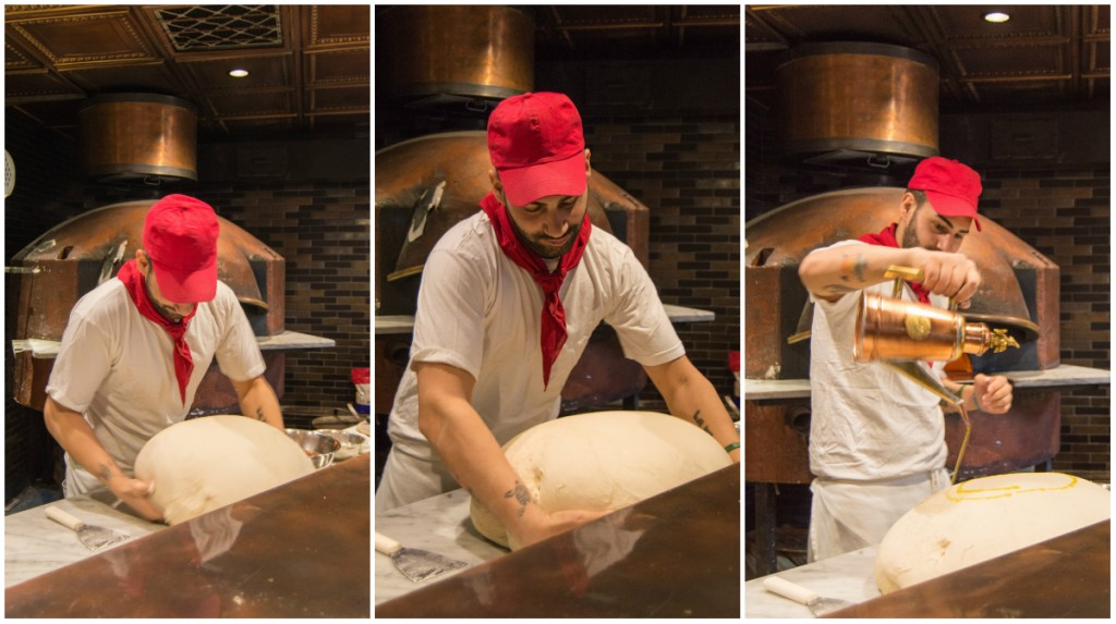 chef Fabio making pizza at MAST Boston
