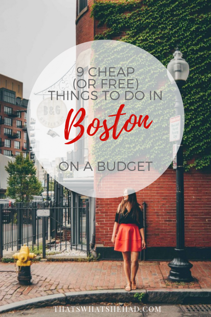 9 cheap (or free) things to do in Boston, Massachusetts, if you are on a budget! (+ budget hotel options). #Boston #Massachusetts