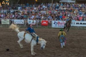 bronc riding cowbow