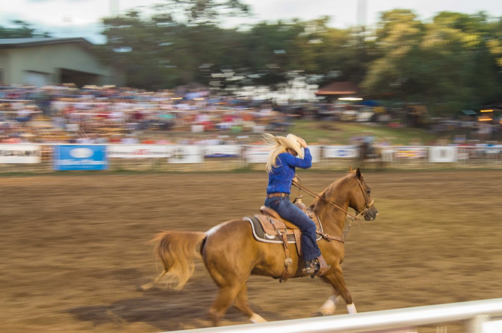 cowgirls competing at rodeo