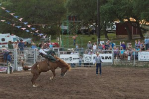 horse riding at texas rodeo