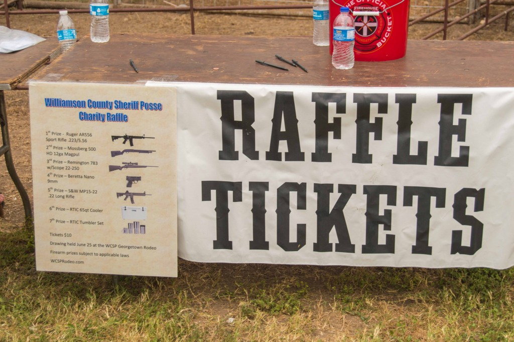 raffle for riffle at rodeo