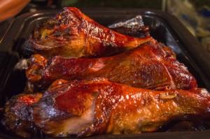 turkey legs at rodeo food truck