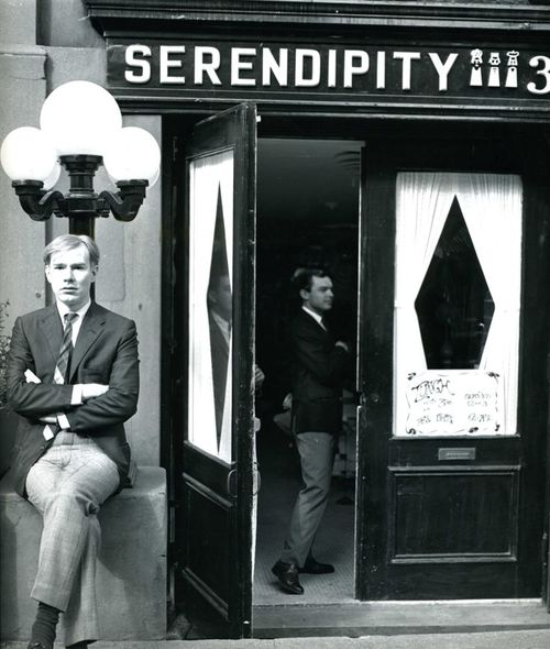 andy warhol at serendipity cafe
