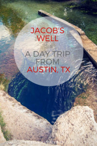 Day trip from Austin, Texas: swim in Jacob's Well and have dinner at Salt Lick BBQ afterwards! #Texas #Austin #AustinTx #Jacobswell #BBQ