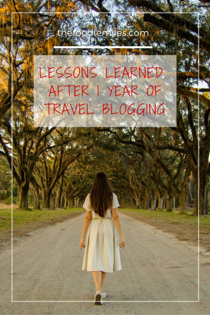 lessons travel blogging 1 year
